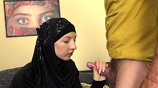 Muslim thanks her husband with amazing fuck