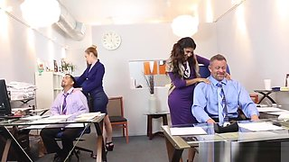 Office teen stepdaughters