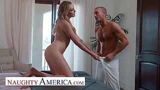 Naughty America - Horny and wet, Charlotte Sins fucks