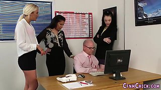Domina humiliates boss