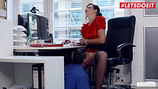 LETSDOEIT -German Office Babe Sina Velvet Needs Cock At Work