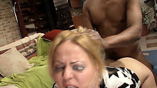 Stealthing for BBW Mature by Black Refugee after Anal Sex