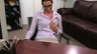 Sinful milf Cherie with curvy natural tits gets rear fuck