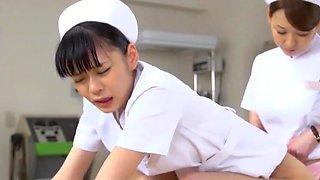 Amazing Japanese whore Yuki Aoi, Yumemi Nakagawa, Nachi Sakaki in Crazy Handjobs, Nurse JAV video