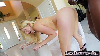 Round ass babe Ashley Fire auditions and rides Lexs bbc