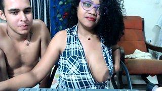 Squirt milk of my huge nipples horny black girl on webcam