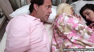 Daughters seducing their dad's friends at slumberparty