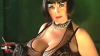 lovely mature busty smoking MILF teaser