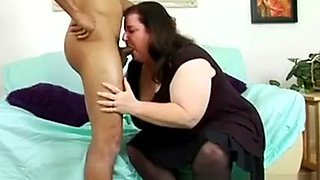 Chubby Brunette Housewife In Stockings Feeds Her Hunger For Black Meat
