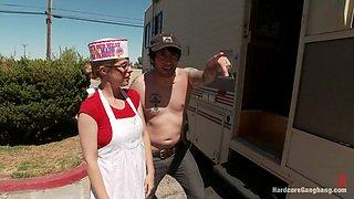 Pennys Trailer trash abduction fantasy comes true