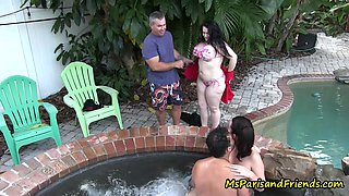 Everybody Cums at this Hot Tub Party