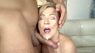 Having undressed mature whore Malya exposes big ass and gets fucked doggy