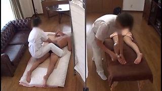 Japanese Wife Massage Fucked Cheats Cuckold Hubby Sees