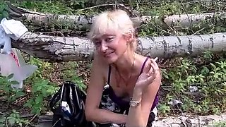 Drunk russian granny