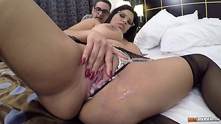 pierced nipples Madeline Blue gets her pussy pounded like never before