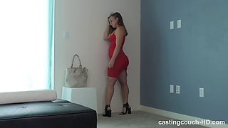 Casting with a blonde slut Alexa and a large black manhood