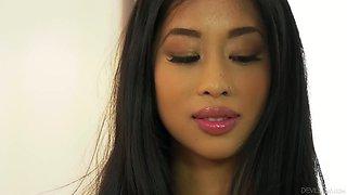 Stunning Asian brunette MILF Jade Kush keeps on riding dick for orgasm