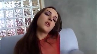 Nice babe fucks and squirts and squirts and squirts more