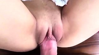 Amateur Teen Tight Pussy Premature Cum on Belly