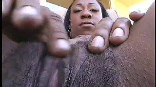 Black Girl Finger Fucks Solo Talks Dirty