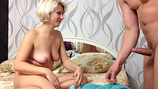 Man fuck Russian hairy mature woman