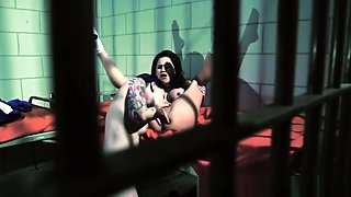 Busty prison lesbian pussylicked and fingered