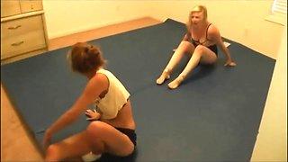 #20 electrafied! sister vs sister real female wrestling