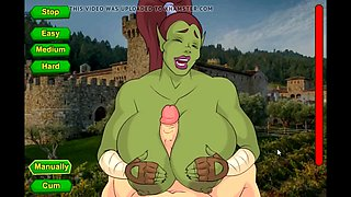 Sexy orc griselda tittyfucking and creampie