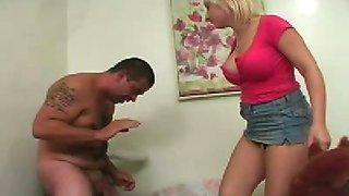 Blonde Schoolgirl Ballbusting