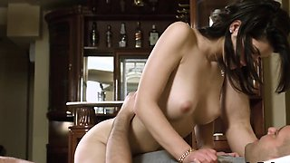 Lovable sweetie gapes slim hole and gets deflorated