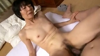 Japanese Mature Mom Skinny Hairy Creampied By Young Man