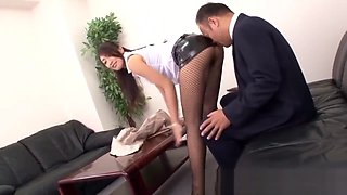 Hot Japanese milf gets fucked by her Boss