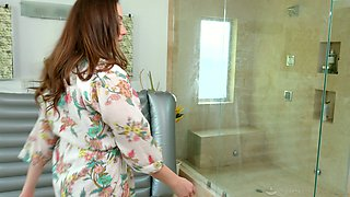 Stepson is craving for super sexy stepmom Chanel Preston in the shower