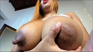 Colombian Cow Milks Her Udders #3