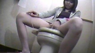 Spy toilet room masturbation