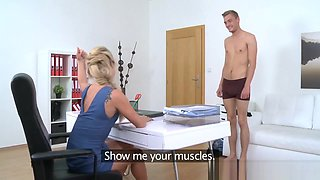 FemaleAgent Horny agent sucks and fucks stud