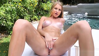 LUBED OILED up slippery pussy POUNDED outdoors