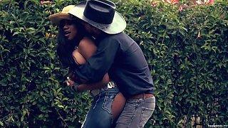 Ebony cowgirl