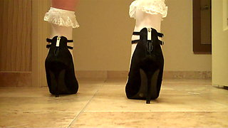 crossdresser frill socks high heels and stockingspart 3