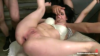 Amateur Girl's First Porn Shoot Ever! Double Anal! Double Vag!