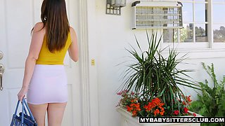 MyBabysittersClub - Cute Teen Fucks Big Cock Boss