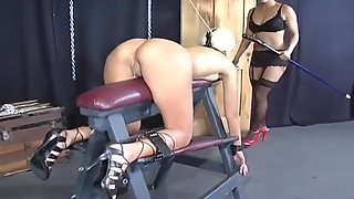 Stunning Blonde Stimulated And Punished By Machines