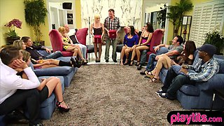 Real amateurs going to participate in a swinger show