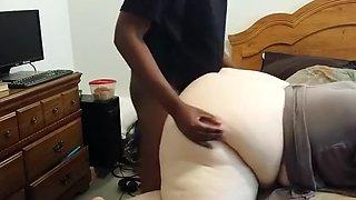 Young black bull fucks my bbw wife doggystyle