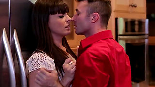 Horny housewife fucked in the kitchen