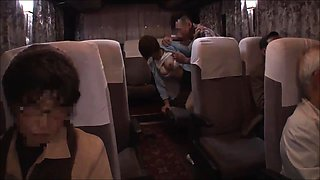 Bodacious Japanese babe takes a cock for a ride on the bus