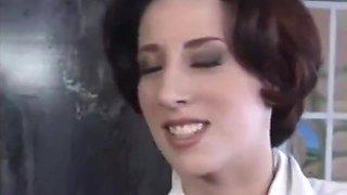 Sexy brunette girl vintage fuck very hard