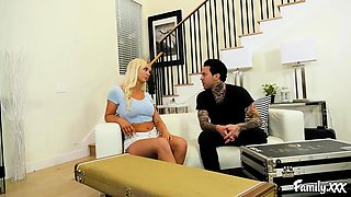 Big Tit Blonde Stepsister Loves Fucking Her Stepbrother