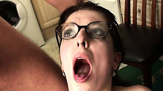 Submissive uk realtor takes cock ass to mouth