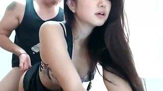 Beautiful Korean Girl Show CAM with Boy Friend